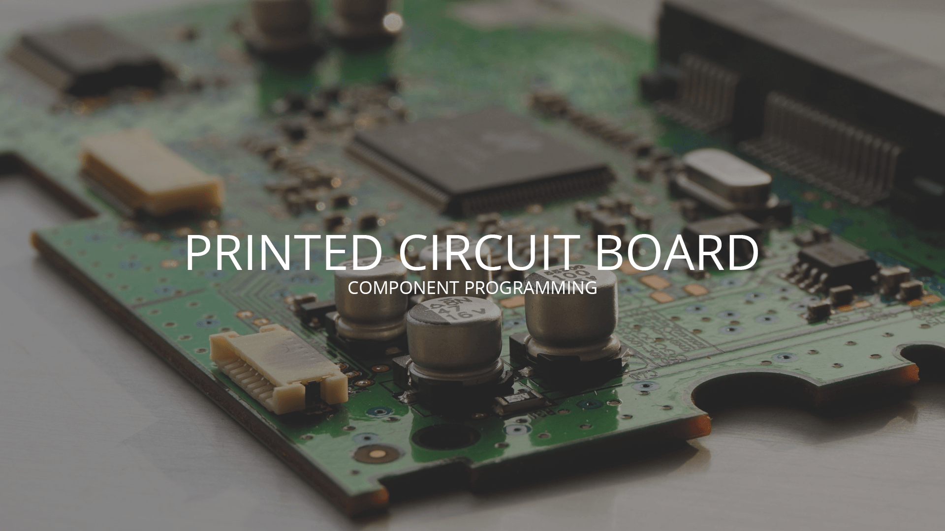 Printed Circuit Board Component P{rogramming