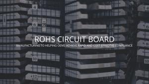 ROHS Circuit Board